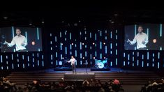 LED Strip Stage Design At Opendoor Church
