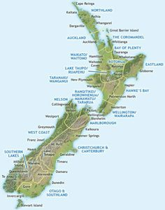 NZ, New Zealand, map