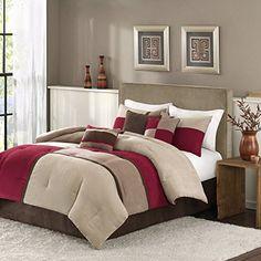 Madison Park Sundance 7 Piece Comforter Set  Red  King -- For more information, visit image link.