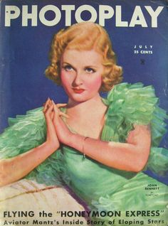 Vintage Movie Magazine Cover - Joan Bennet - July 1935
