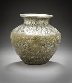 Lota | LACMA Collections Lota India, Rajasthan, 19th century Furnishings; Serviceware Tinned brass Diameter: 5 3/4 in. (14.61 cm); Height: 5 3/4 in. (14.61 cm) Gift of Catherine Glynn Benkaim (M.2006.167.2) South and Southeast Asian Art
