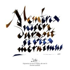 Calligraphy by Lazar Dimitrijevic, via Behance