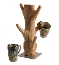 Yosemite Mug Rack Cottage Kitchen Inspiration, Coffee Mug Holder, Wood Rack, Mug Rack, Tree Trunks, Tree Branches, Mugs, Antiques, Beautiful Things