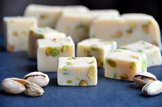 Irish cream and pistachio fudge.
