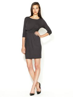 Alandria Pleated Jersey 3/4 Sleeve Dress by Ava & Aiden - Found at #GiltLive via @GiltGroupe