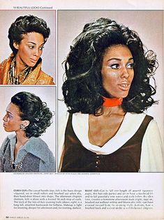 1960 70 Stylish Female Hair Styles Black Ebony