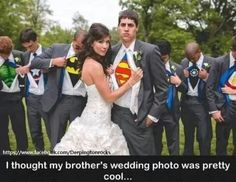 Superhero wedding cept my hubby would have been Batman or can we say anullment
