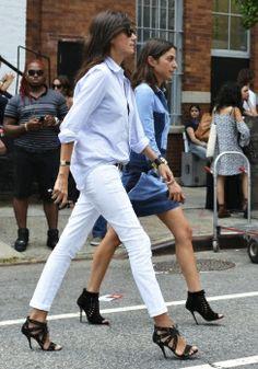 Emmanuelle Alt pulls off the white jeans
