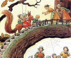 Autumn illustration from Woody, Hazel and Little Pip Elsa Beskow Elsa Beskow, Fairy Land, Fairy Tales, Claude Monet, Children's Book Illustration, Autumn Illustration, Vincent Van Gogh, Faeries, Halloween