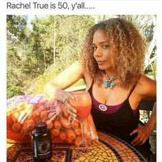 It's probably that carrot juice she's drinking!