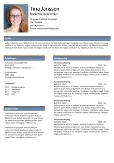 origineel cv in word 19 Best Resumes images   Resume Design, Sample resume, Design resume