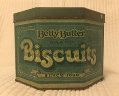 VINTAGE BETTY BUTTER BISCUIT TIN 1950s STYLE   eBay