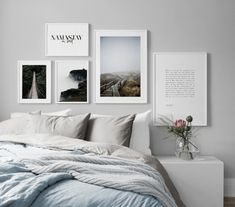 Trendy Bedroom Wall Decor Above Bed Thoughts 30 Ideas Bedroom Wall Decor Above Bed, Bedroom Decor, Bedroom Pictures Above Bed, Desenio Posters, Bed In Closet, Closet Wall, Bedroom Colour Palette, Bedroom Posters, Trendy Bedroom