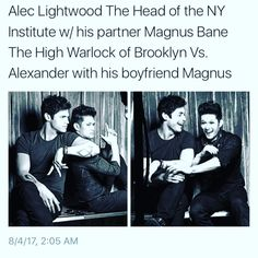 Aku Cinta Kamu (@maleclives) en Instagram:These guys are too cute I can't handle it!!!!!! #malec