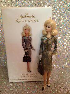 2012 HALLMARK ORNAMENT BARBIE TWEED INDEED - NEW Christmas Barbie, Christmas Gift Decorations, Hallmark Ornaments, Barbie Dolls, Tweed, Gifts, Presents, Favors, Barbie Doll
