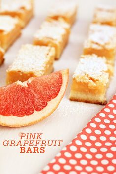 Pink Grapefruit Bars