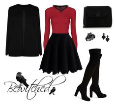 """""""Bewitched"""" by moumantai13 ❤ liked on Polyvore featuring Chicwish, Emanuele Bicocchi, Diane Von Furstenberg, Chanel, Boohoo and Tasha"""