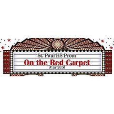 Our marquis banner is a must have for any Hollywood themed party or event. Each Marquis Personalized Banner is printed on weather resistant vinyl and has grommets for hanging.