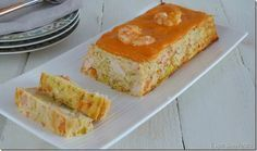 Pastel de puerros y langostinos con salsa de piquillos Seafood Recipes, Appetizer Recipes, Cooking Recipes, Appetizers, Tapas, My Favorite Food, Favorite Recipes, Sandwich Cake, Crazy Cakes