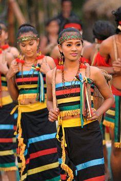 Indigenous khmer phnong women in Philippines.