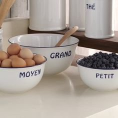 ShopStyle: Bistro Francais Mixing Bowls, Set of 3