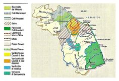 Italian Wine From Le Marche mapped out #wine #Italy  www.sibillinislow.com