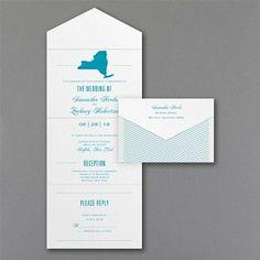 State of Romance Seal 'n Send Wedding Invitation