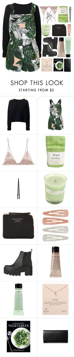 """they say I'm caught up in a dream"" by daisiesxflowers ❤ liked on Polyvore featuring JONOFUI, Topshop, Fleur du Mal, A.P.C., Acne Studios, Forever 21, Grown Alchemist, Dogeared, Martha Stewart and royaltyset"
