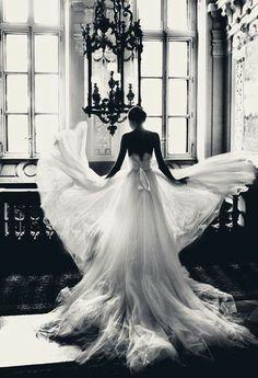 Dream beautiful beauty black and white bridal