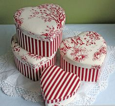 Set of Four Trinket boxes