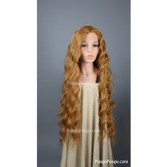 Long Light Red Wig Curly Heat Safe Wig Sansa Stark Game of Thrones... ($140) ❤ liked on Polyvore featuring beauty products, haircare, hair styling tools, bath & beauty, grey, hair care, wigs and curly hair care