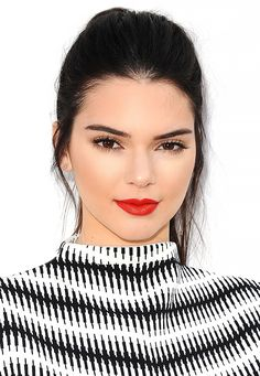 Kendall Jenner's gorgeous red lips.