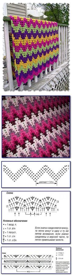 beautiful blanket crochet pattern a zig-zag