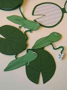 FROG LIFE CYCLE ON A STRING {A SCIENCE AND WRITING CRAFT} - TeachersPayTeachers.com