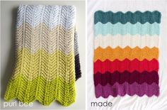 From http://www.danamadeit.com/2012/03/celebrate-baby-the-knitted-chevron-blanket-done.html#    and also on raverly
