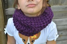 Dark Purple Cowl Cowl For Children Age 8 And Up by FarahsAttic