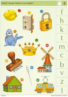 LOGICO Melyik hangot hallod a szó elején - Katus Csepeli - Picasa Webalbumok Speech Therapy, Playroom, Worksheets, Nursery, Printables, Teacher, Album, Reading, Teaching Supplies