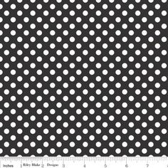 Riley Blake Designs/Small White Polka Dots on Black by RunnStitch