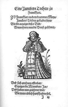 Frauen-Trachtenbuch 036.jpg A Junker's daughter from Frankfort.