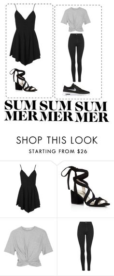 """""""Untitled #17"""" by writergirl2022 ❤ liked on Polyvore featuring Topshop, Kenneth Cole, T By Alexander Wang and NIKE"""