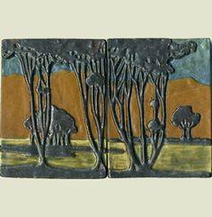 Craftsman style Landscape Tile Set by Ravenstone Tiles