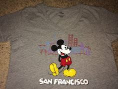 Sale Vintage MICKEY MOUSE SF San Francisco womens T by casualisme