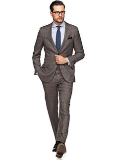Suit Brown Check Sienna P3673i   Suitsupply Online Store