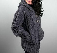 Ravelry: Northern Mockingbird Aran Sweater pattern by Americo Original