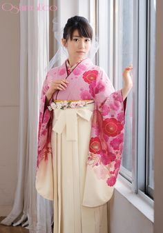 Beautiful pink hakama set