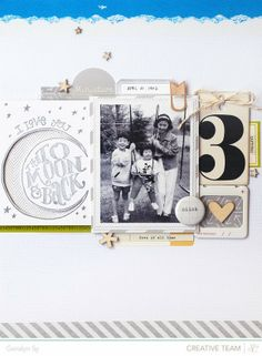 #papercraft #scrapbook #layout LOVE LOVE LOVE this layout by @Geralyn S #letterpress #scrapbook #scrapbooking
