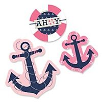 Ahoy - Nautical Girl - Birthday Party Theme | BigDotOfHappiness.com