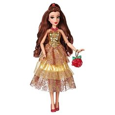 Disney Princess Style Series, Mulan Doll In Contemporary Style With Purse And Shoes : Target Disney Princess Belle, Princesses Disney Belle, Princess Style, Disney Princess Fashion, Yellow Sparkly Dresses, Disney Mode, Style Disney, Color Lavanda, Ariel Doll
