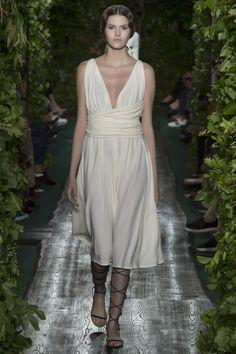 "Valentino Haute Couture Fall/Winter 2014 ""The Siesta"", draped peplum in opal colored crêpe."