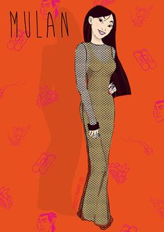 Mulan / Disney Princesses Styled Like Miley Is A Thing Now (via BuzzFeed)